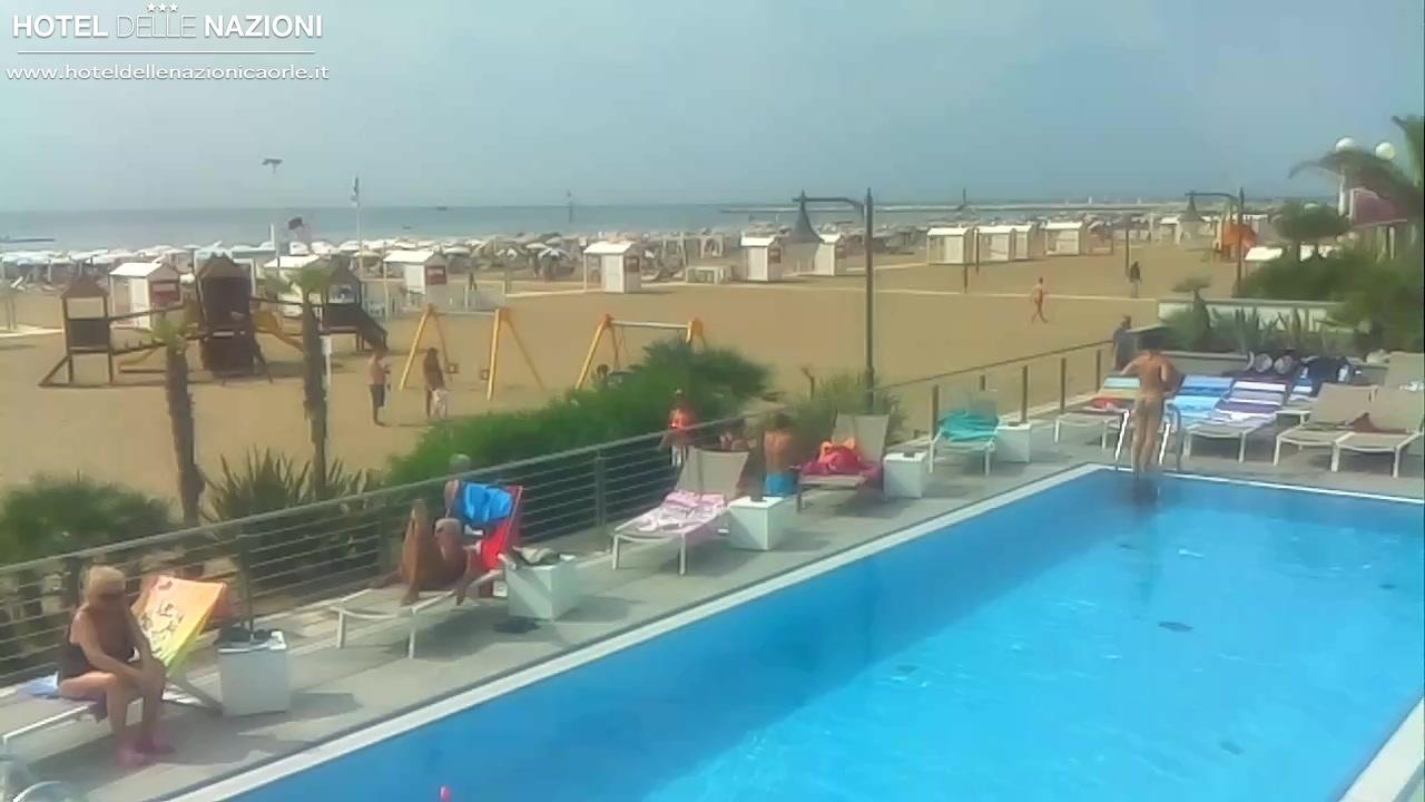 Caorle Webcam Hotel Delle Nazioni spiaggia di ponente