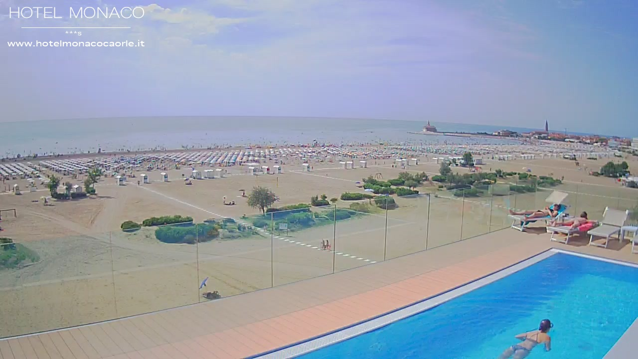 Caorle Webcam Hotel Monaco spiaggia di levante